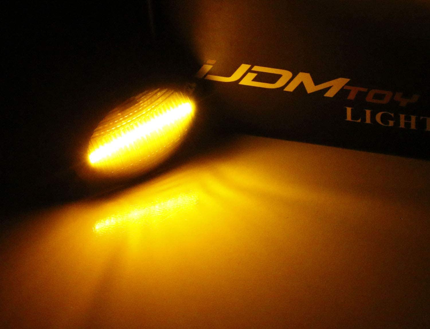 Powered by 20-SMD LED iJDMTOY Smoked Lens Amber Full LED Fender Side Marker Light Kit For 2007-up Fiat 500 500e 500c Abarth Replace OEM Sidemarker Lamps