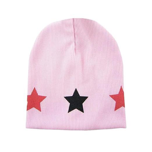 8bc84dd5c63 Tuscom Print Star Baby Beanie For Boys Girls Cotton Hat Children Winter Hats  (Pink)
