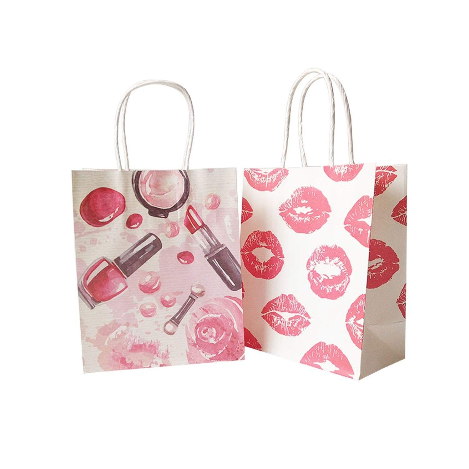 50 Pcs/Lot 15x18 cm Cosmetic Pattern Printing Paper Bags with Handle Gift Bags Party Favor Wedding Packaging Storage Bags,Perfume by JIA-WALK (Image #3)