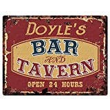 Chic Sign DOYLE'S BAR and TAVERN Tin Rustic Vintage style Retro Kitchen Bar Pub Coffee Shop Decor 9''x 12'' Metal Plate Sign Home Store man cave Decor Gift