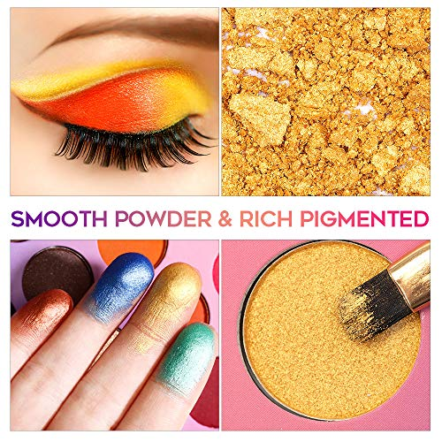 EYESEEK Colorful Eyeshadow Palette 35 Colors High Pigmented Makeup Palette Metallic And Shimmer Eyeshadow Pallet Easy To…