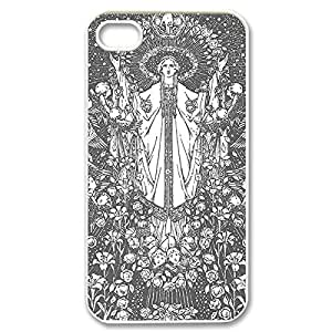 Diy iPhone 6 plus Hard Shell powerful Custom Case- Virgin Mary skinned Christian and Child Baby Jesus Protective PC Case for iPhone basis 4 iPhone and 6 plus (White 020337)
