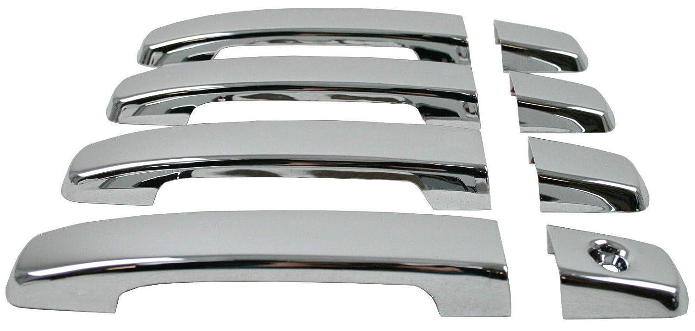 QASHQAI//NAVARA D40//PATHFINDER Stainless Steel Chrome Door Handle Cover 4 Door 1 holed