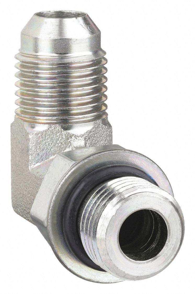 90 Degree Elbow Eaton Aeroquip 2062-8-6S Steel Flared Tube Fitting 9//16 Male JIC x 3//4 O-Ring Boss Male