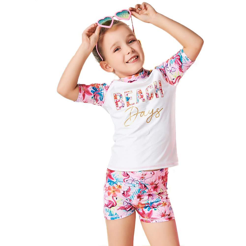 EZIX Girls Rashguard Set Two Pieces Swimsuit UV Sun Protection Suit Swimwear