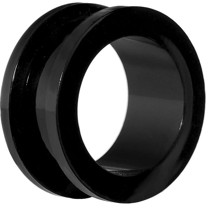 SHOKK Acero inoxidable oído túnel, Set de estiramiento carne túneles de oído 1,6 - 16 mm negro y plata: Amazon.es: Ropa y accesorios