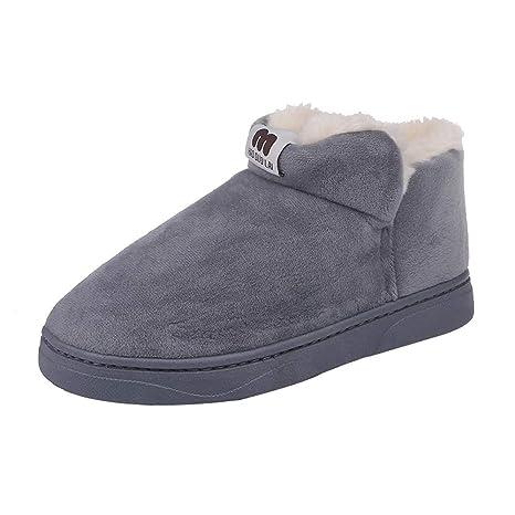 Botas Mujer Otoño Invierno 2018❤ZARLLE Moda Zapatos Invierno Botas de Nieve  Calientes de Piel 013e4c4fb902