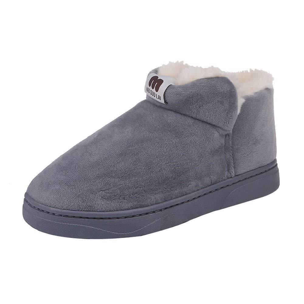 Zapatillas Botas de Mujer Tubo Corto de Mujer y Zapatos de algodó n con Terciopelo Bota de Estudiante Botines de Nieve