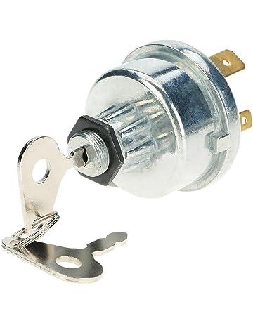 Llave de encendido de KKmoon, interruptor universal con 2 llaves para coche, tractor,