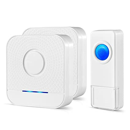 Bistee Wireless Doorbell 2 Receivers And 1 Push Button, IP55 Waterproof  Chime Kit, 1000