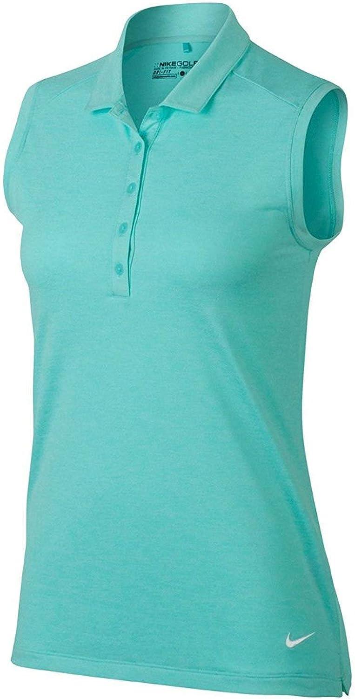 Polo de golf Nike Heather sin mangas para mujeres -Camiseta de ...