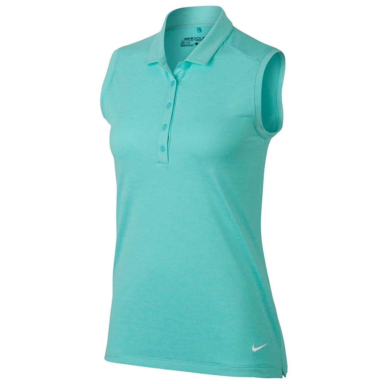 Polo de golf Nike Heather sin mangas para mujeres -Camiseta de ...