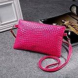 Liraly Gift Bags,Clearance Sale! 2018 New Women Girl Fashion Purse Leather Crocodile Pattern Mini Crossbody Shoulder Bag (Hot Pink)