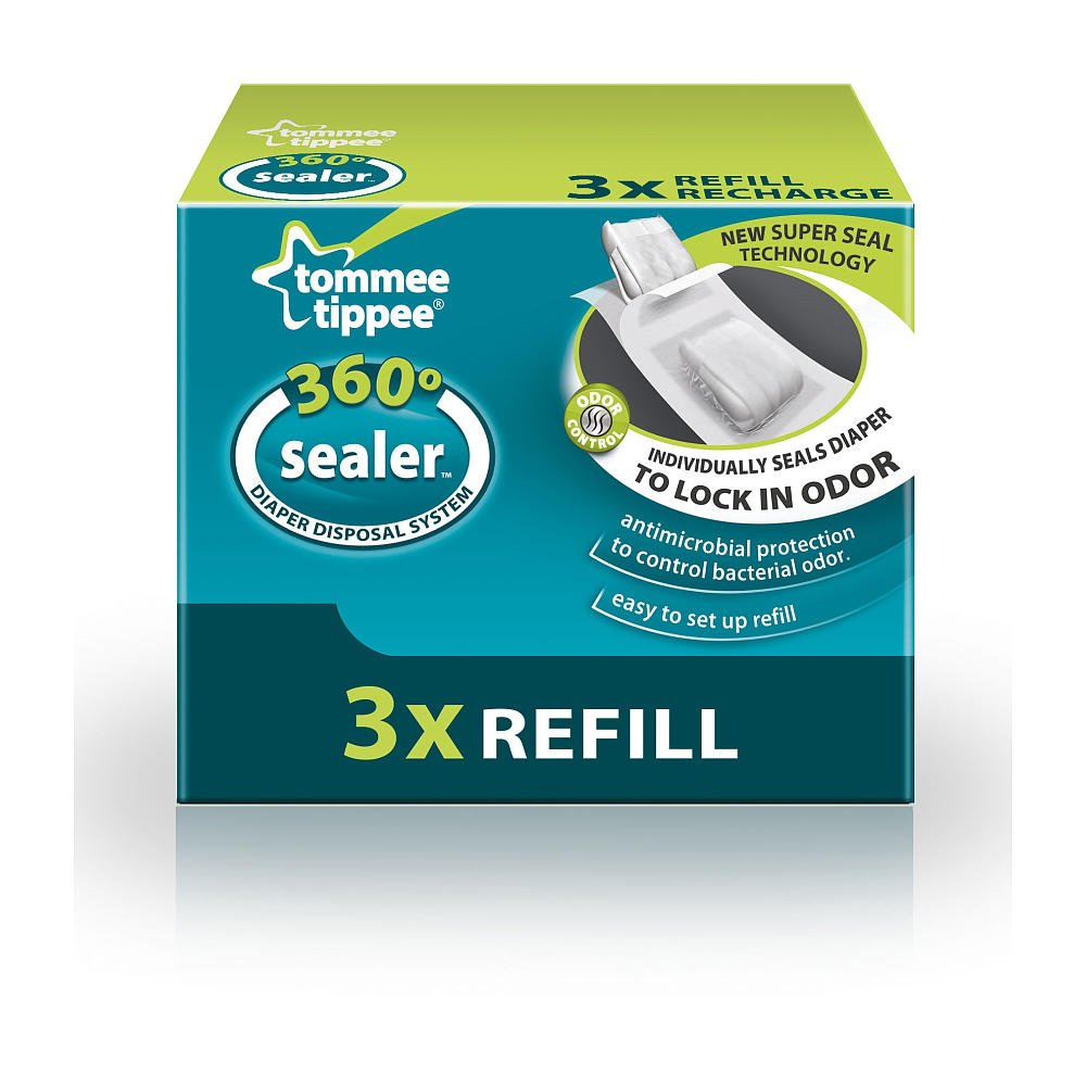 Tommee Tippee 360 Sealer Diaper Disposal System Refill (3)