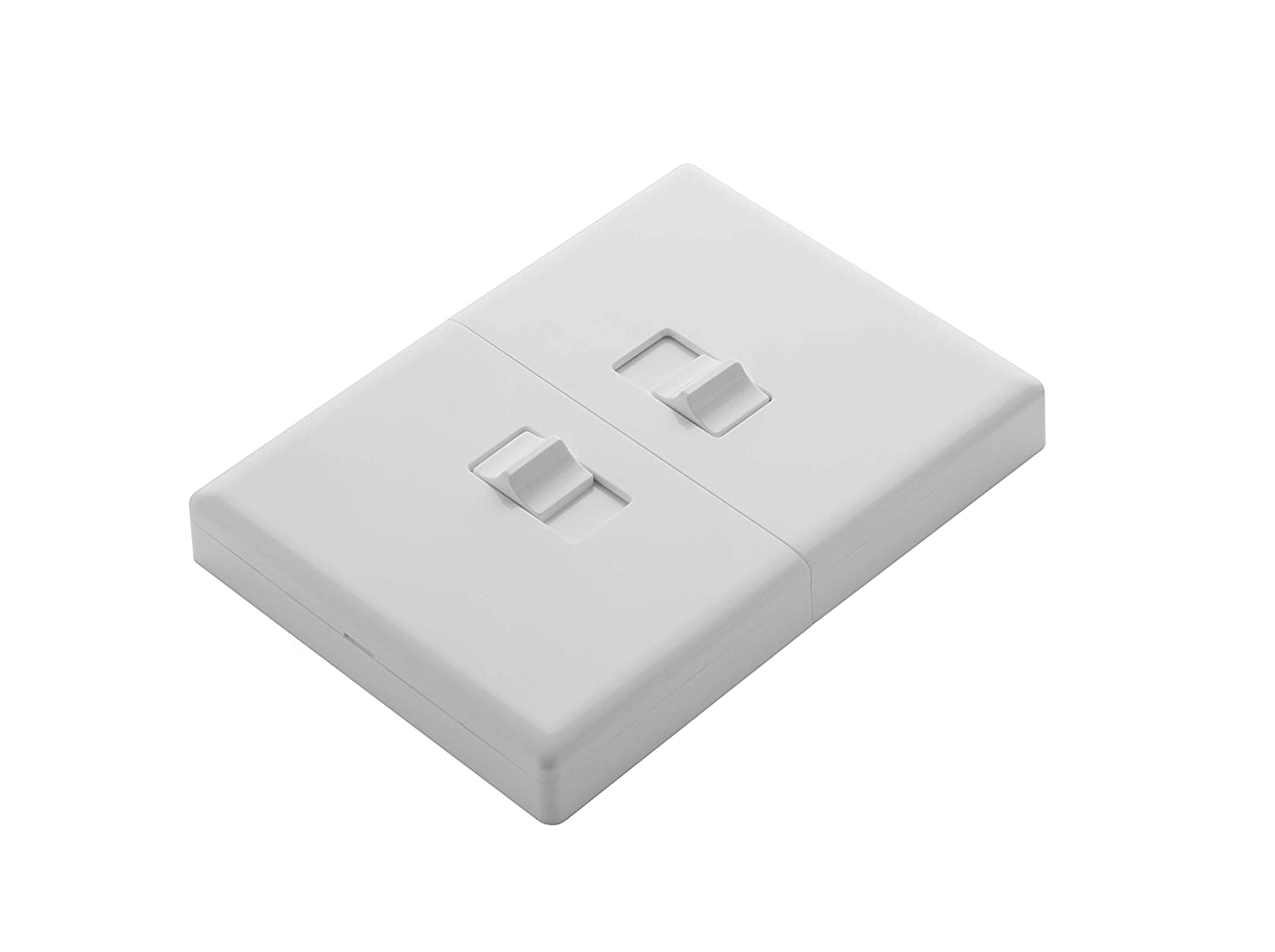 Home Automation Lighting, ZWAVE Plus Smart Switch by Ecolink, Lighting Switch Control, White Dual Toggle Style Light Switch Design (PN - DTLS2-ZWAVE5)