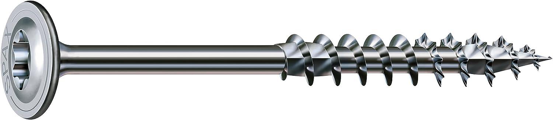 Spax Tornillo de construcció n, T-Star Plus T30, plato, cabeza de rosca parcial, 4 Cut, WIROX a3j, 251010600605 4Cut SPAX International GmbH & Co. KG de home improvement SPC5N