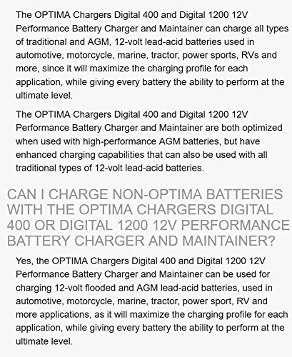 Optima Digital 1200 12V Performance Battery Charger and Maintainer by Optima (Image #1)