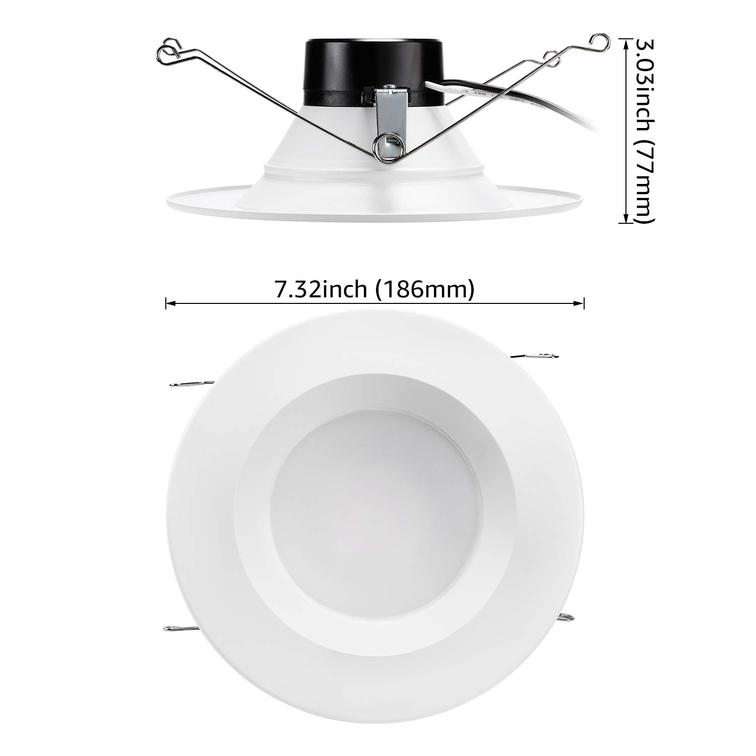 5 Years Warranty Pack of 6 R1-ZH3DL-15WD50-6P 5000K Daylight 15W 120W Equivalent 1100lm Energy Star /& UL-Listed CRI90+ TORCHSTAR 5//6Inch Dimmable LED Retrofit Recessed Downlight