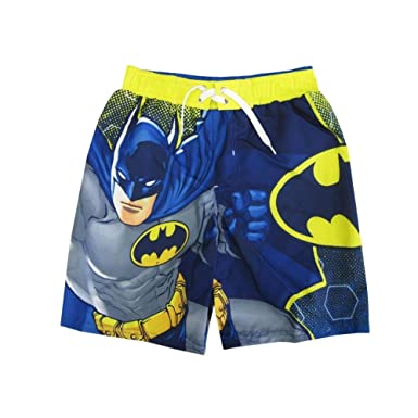 8f578feb6e DC Comics Little Boys Blue Yellow Batman Print Swimwear Shorts 5T:  Amazon.co.uk: Clothing