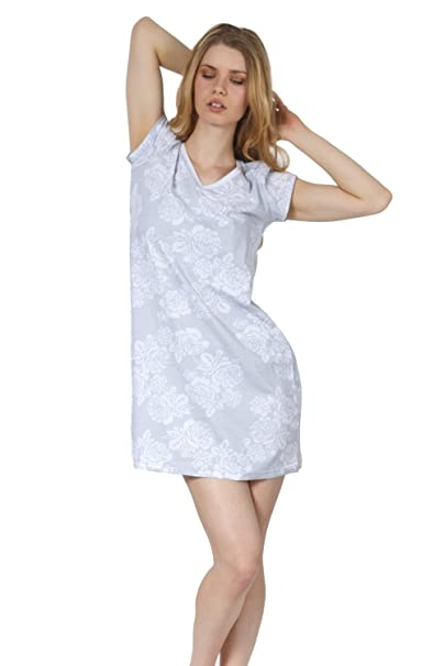 Cozy   Curious Women s Short Sleeve Comfy Cotton Nightgown 36