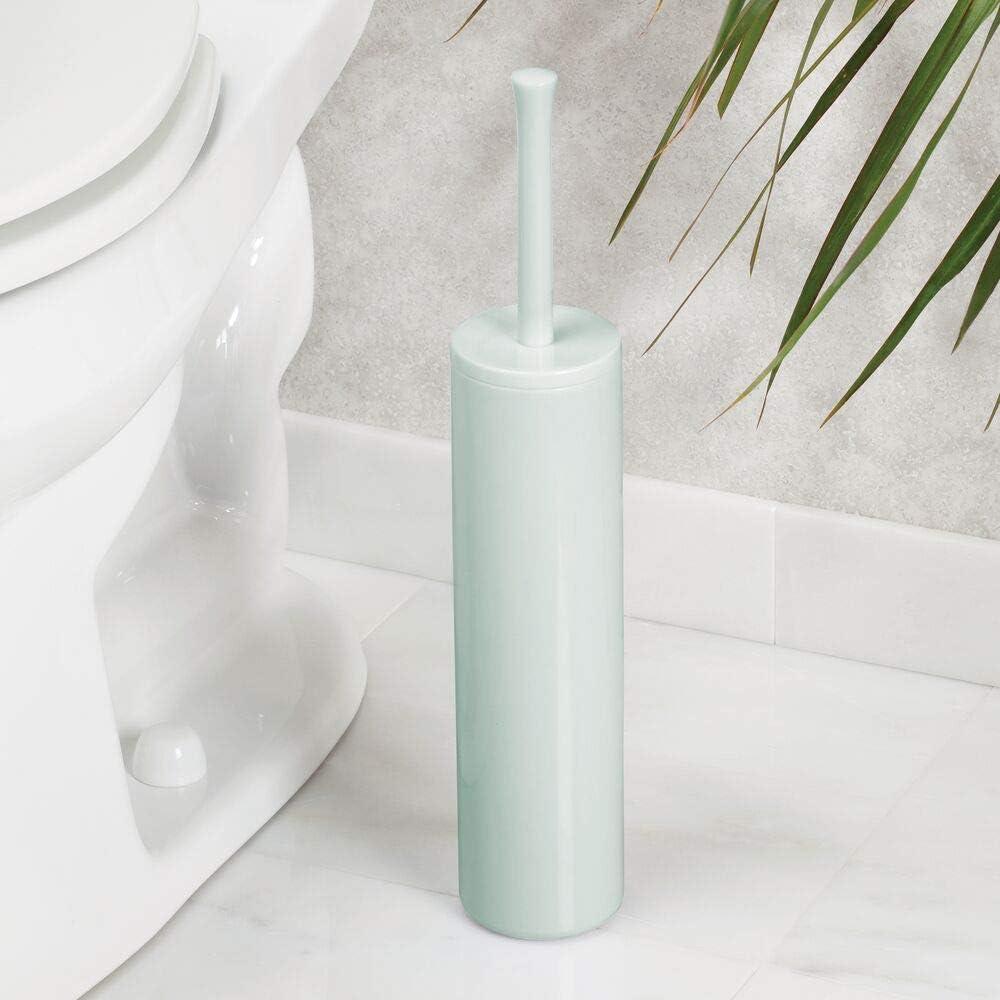 colore: bianco porta scopino di dimensioni ridotte anche per ambienti piccoli accessori per bagno dal design moderno a zig zag mDesign scopino bagno
