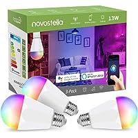 Novostella Smart Lamp 13 W 1300 lm E27 3 Pack, dimbare timing RGBCW (koud wit, warm wit, meerkleurig), Smart Life…