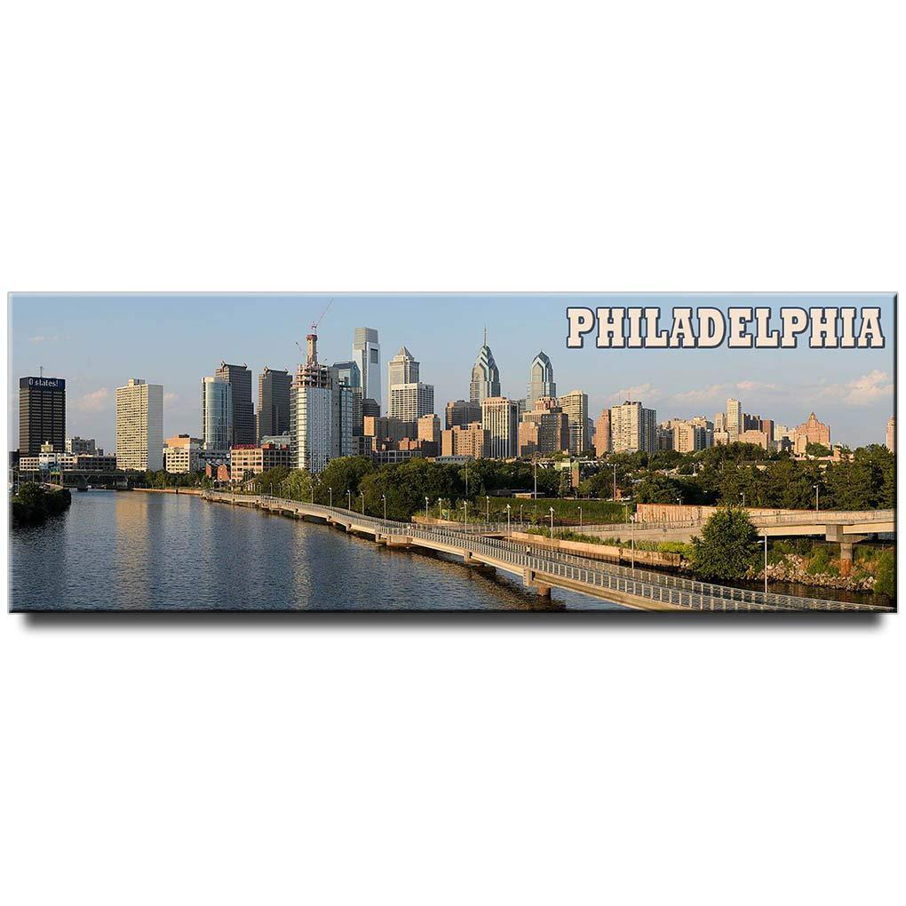Philadelphia panoramic fridge magnet Pennsylvania travel souvenir