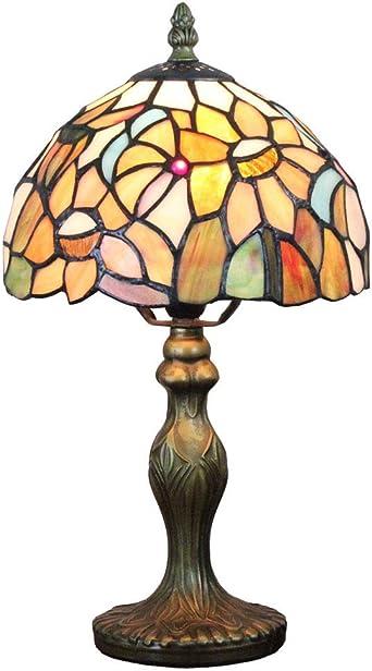 Lámparas de mesa vintage de Tiffany, (8 pulgadas) Lámpara de ...