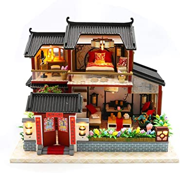 Amazon Com Per Miniature Dollhouse Kit Decorations With Lights