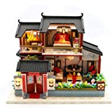 Per Miniature Dollhouse Kit Decorations with Lights and Furniture DIY House Craft Kits DIY Small House Model Puzzle…