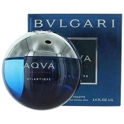 Bvlgari Aqva Atlantiqve For Men 3 Piece Set 3.4 Oz Eau De Toilette Spray 3.4 Oz After Shave Balm Travel Pouch
