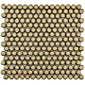 """SomerTile FKOMPR73 Penny Caffe Porcelain Mosaic Floor and Wall Tile, 12"""" x 12.625"""", Beige/Cream"""