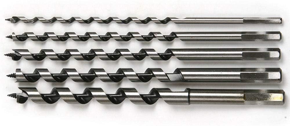 230-460 mm de largo multicolor paquete de 1 unidad Broca para taladro de madera con v/ástago hexagonal BE-TOOL 10 a 25 mm
