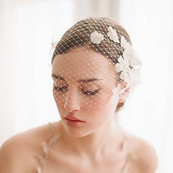 Bao Core Braut Gesichts Schleier Perlenblume Kopfschmuck Brautmode