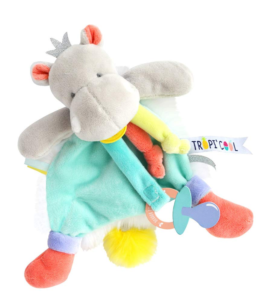 Doudou et Compagnie Hippo DC3301 Dummy Clip Blue