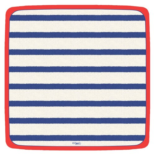 Caspari - Square Party  Paper Plates, Red, White, and Blue,Pack of 8