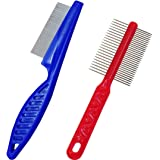 Double Side Comb Stainless Steel Pet Flea Comb For Dogs Cats Pet Puppy Shedding Grooming Tool Massaging Flea Brush