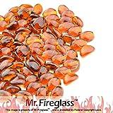 Mr. Fireglass 1/2' Reflective Fire Glass Cashew with Fireplace...