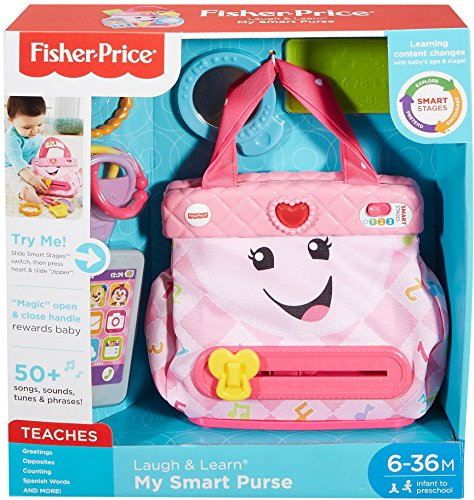 61u8y%2BzoohL - Fisher-Price My Smart Purse Toy Playset