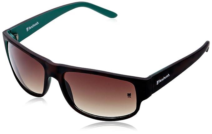 ee436f9c8e53 FENCHURCH Men's Plastic Wrap Sunglasses, Brown (Matt Tortoise), One Size