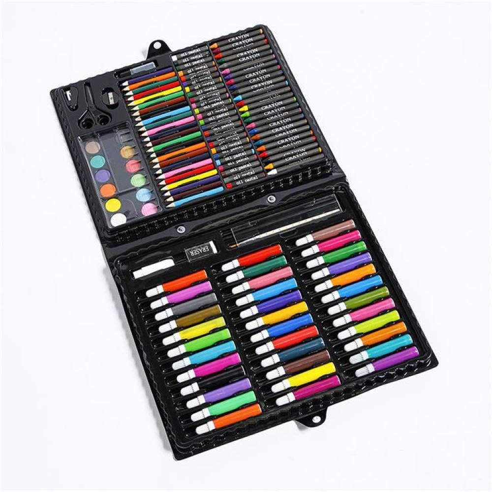 150 Pezzi d'Arte casa Insieme di Disegni d'Arte, colore Matita Disegno Pennarello Arte Set con Pennello a Olio Pastello Disegno Arte Professionale Set per Bambini Regali per Bambini.