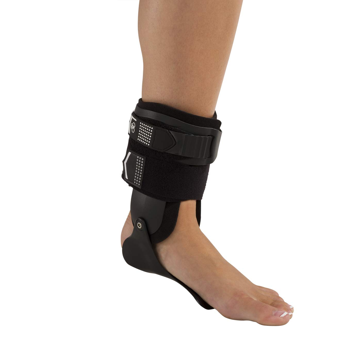 DonJoy Performance Bionic Stirrup Ankle Braces (Right and Left Pair), Maximum Medial Lateral Ankle Support, Low-Profile Rigid Brace, Adjustable - Black, Medium - Value Bundle by DonJoy Performance (Image #8)