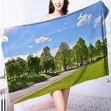 AmaPark Microfiber Towels Green Grass Multipurpose, Quick Drying L63 x W31.2 INCH