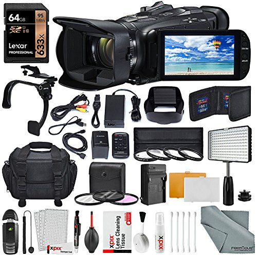 Canon VIXIA HF G40 Full HD Camcorder W/ Video 160 LED Light,