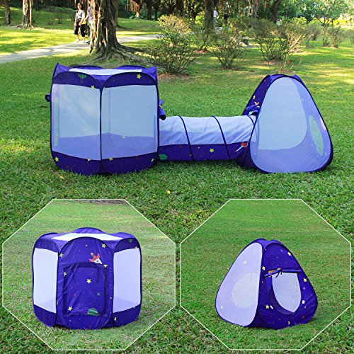 Homfu 3 in 1 Pop up Tunnel Tent ...