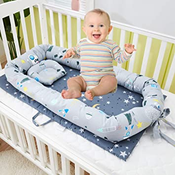 Baby nest Double-sided babynest baby sleep nest Baby lounger sleep bed removable mattress Baby positoner co sleeper
