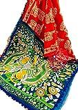 Fashions Trendz Indian Hand Block Printed Cotton MUL Sarees for Women Wedding Designer Party Wear Multicolor ColorTraditional Sari.