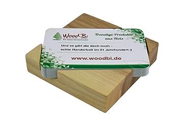 Visitenkartenbox Aus Holz Visitenkartenhalter Aus Holz Visitenkartenständer Original Von Woodbi Ulme