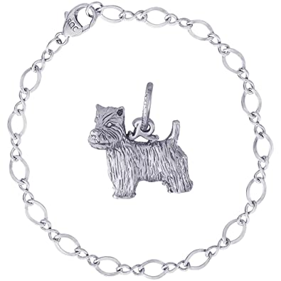 a5b9b6920 Image Unavailable. Image not available for. Color: Rembrandt Charms  Sterling Silver West Highland Terrier ...