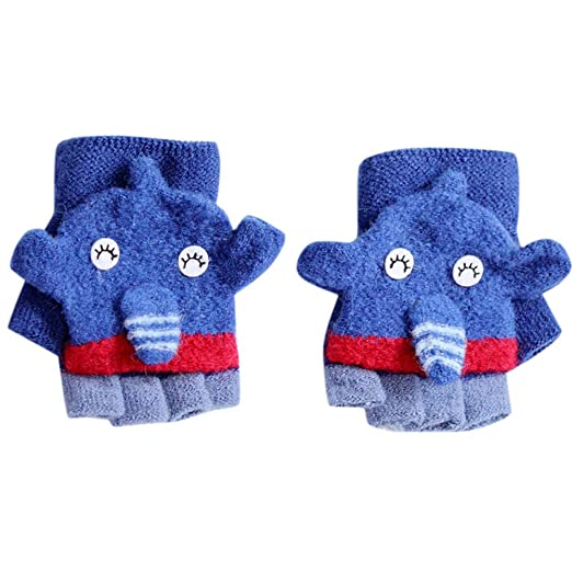 19169aee9bbe Amazon.com  Hunagou Toddler Baby Boys Girls Gloves Cute Cartoon Bear ...